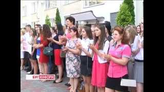 2015-09-01 г. Брест. Первый урок нового учебного года в средней школе №32. Телекомпания  Буг-ТВ.
