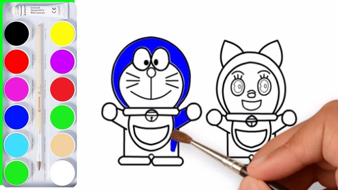 Menggambar Dan Mewarnai Kartun Doraemon Dorami Kreasi Anak
