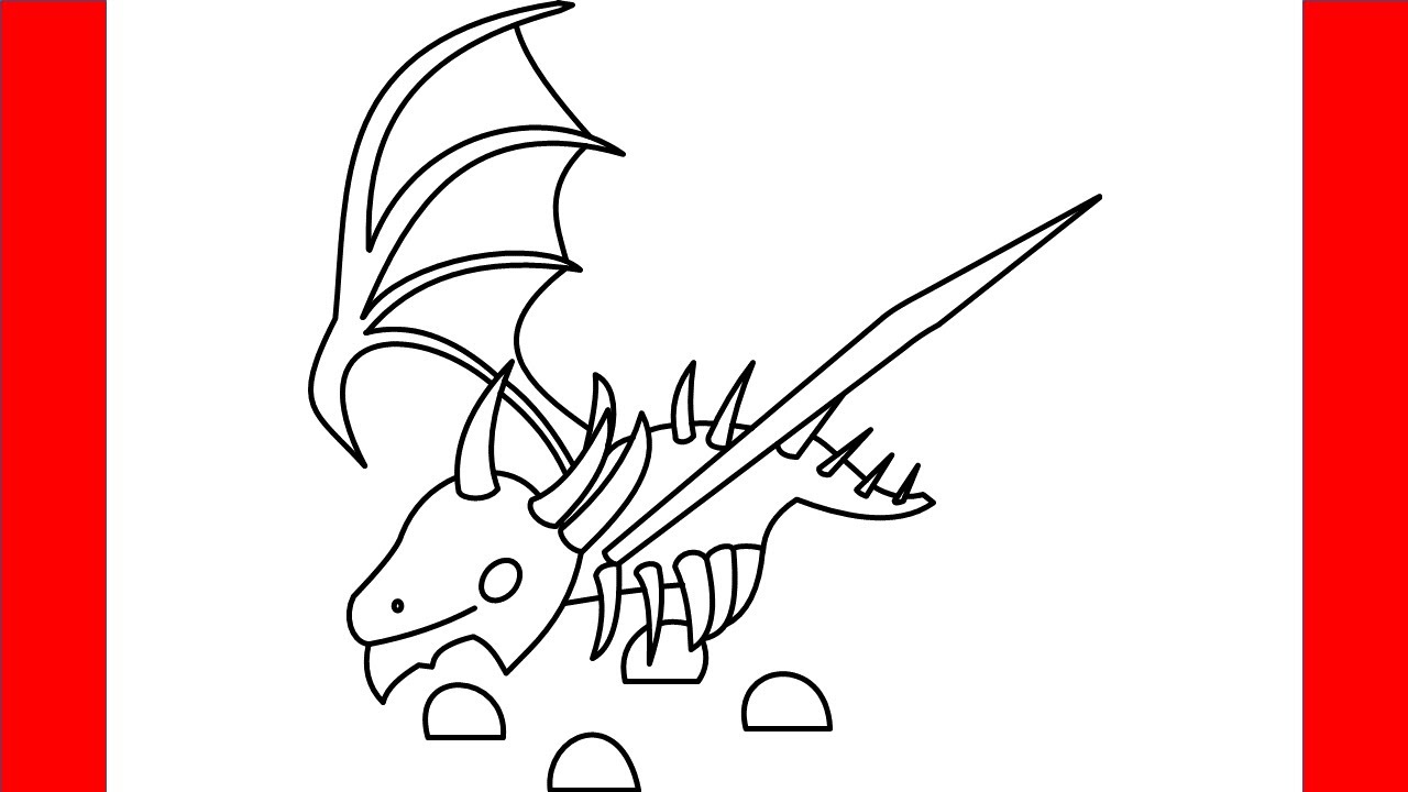 Roblox Adopt Me Pets Tekenen How To Draw Shadow Dragon From Roblox Adopt Me Step By Step