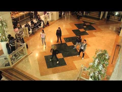 Flash mob Beyoncè Jennifer Lopez Papi La Libellula Verona
