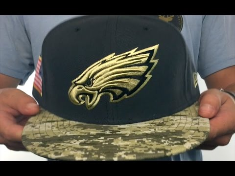 Eagles  2016 SALUTE-TO-SERVICE  Grey-Desert Fitted Hat by New Era ... 62f94f879b1