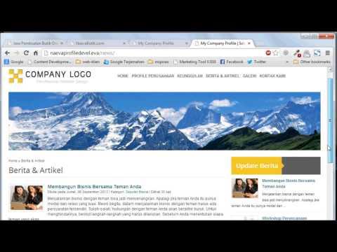 Tutorial Website : Mengelola Berita di Website Anda