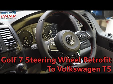Golf 7 GTI Flat Bottom Steering Wheel Retrofit to VW T5
