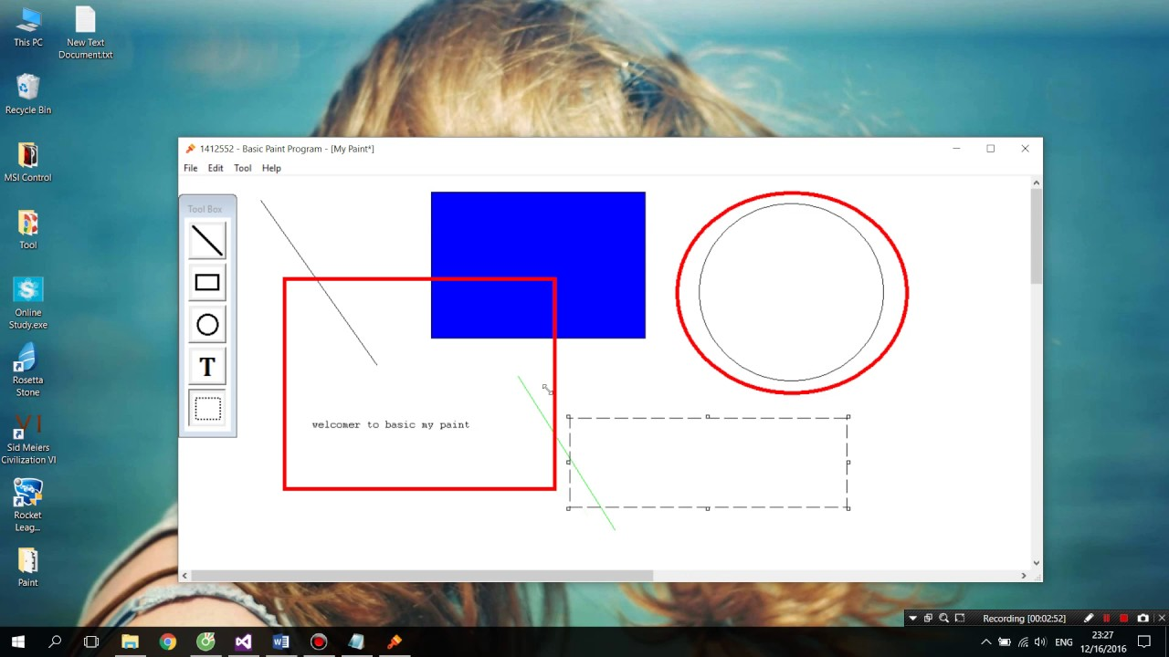 [WIN32 API - C++] Basic Paint Program | Programming Paint Application with  DLL