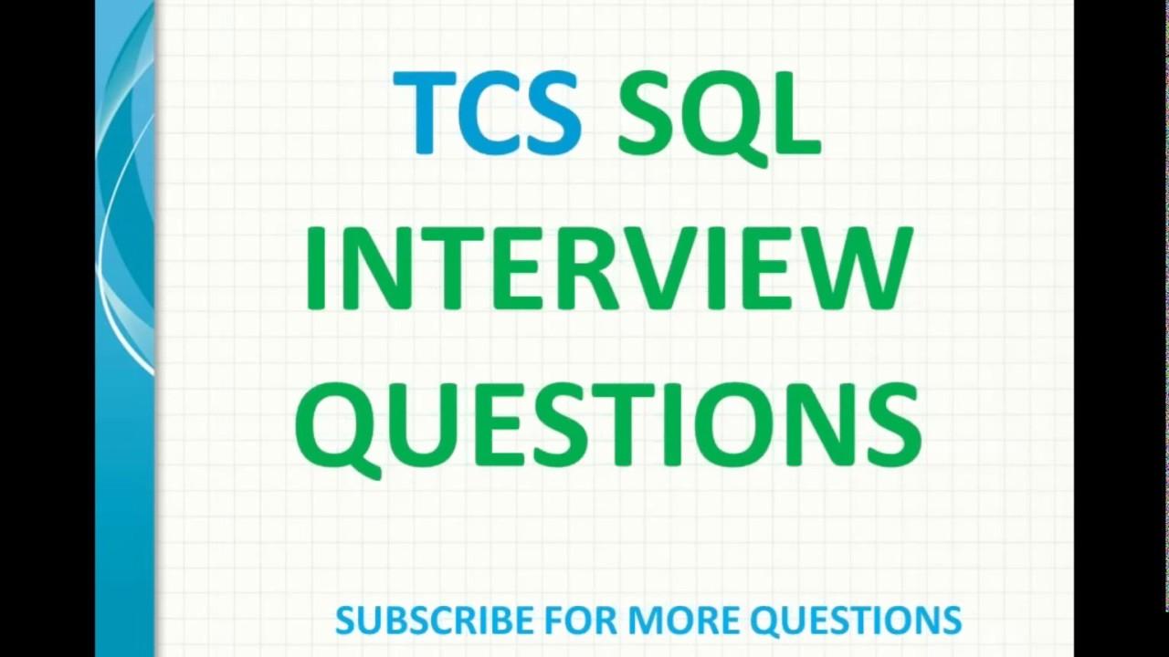 TCS SQL Interview Questions