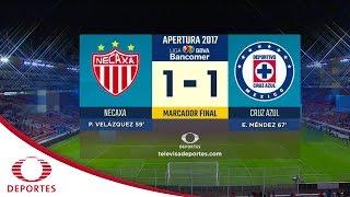 Resumen  Necaxa 1 -1 Cruz Azul | Apertura 2017 - J6 | Televisa Deportes