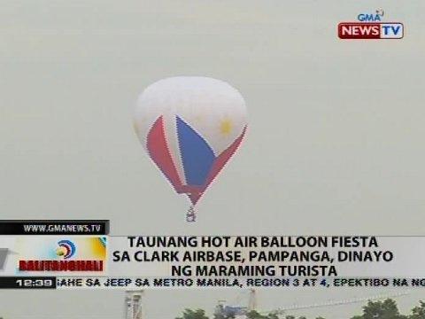Taunang Hot Air Balloon Fiesta sa Clark Airbase, Pampanga, dinayo ng maraming turista