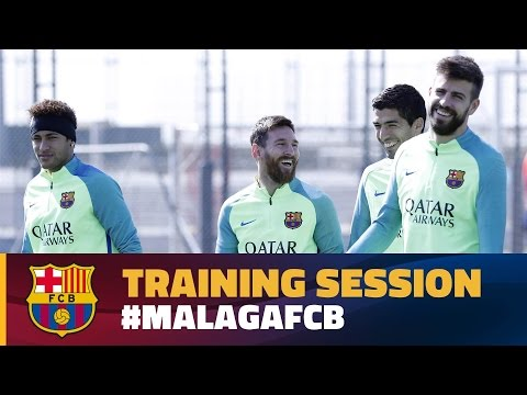 Last training session before the trip to Málaga
