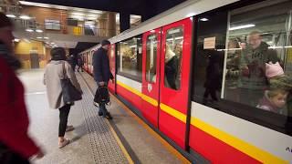 Poland, Warsaw, metro ride from Centrum to Świętokrzyska, 2X escalator