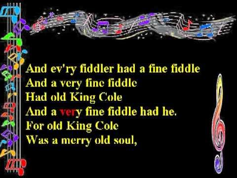 Old King Cole Melody Chords Lyrics Thomascow