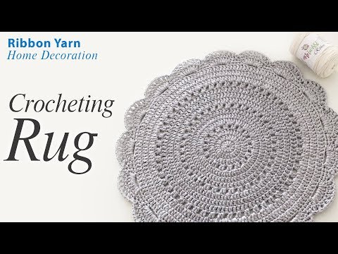 Crochet Rug With Ribbon Yarn You