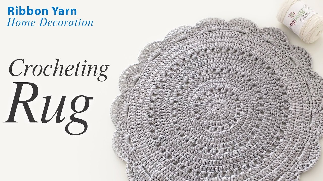 Crochet Rug With Ribbon Yarn