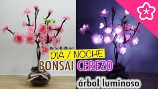 Gambar cover Arbol decorativo con Luces LED Bonsai de Cerezo - DecoAndCrafts
