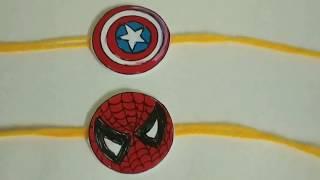 DIY Superhero Rakhi | Easy, Simple and quick rakhi for Rakshabandhan 2019