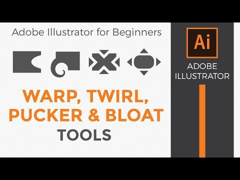How to use the Warp, Twirl, Pucker, and Bloat Tools in Adobe Illustrator CC