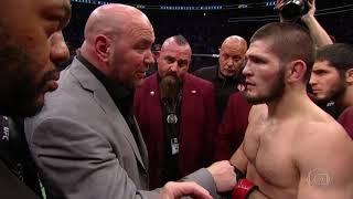Conor McGregor vs Khabib Nurmagomedov: Confusão pós luta - Briga pós luta