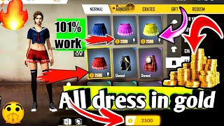 All dress in gold and 😱🔥🔥|`` New bundles and dress 💥💥 Free fire new update