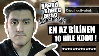 GTA SAN ANDREAS'IN AZ BİLİNEN 10 HİLE KODU! - (MODSUZ)