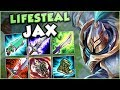 THIS NEW FULL LIFESTEAL JAX BUILD IS GENIUS!! NEW LIFESTEAL JAX TOP GAMEPLAY! - League of Legends