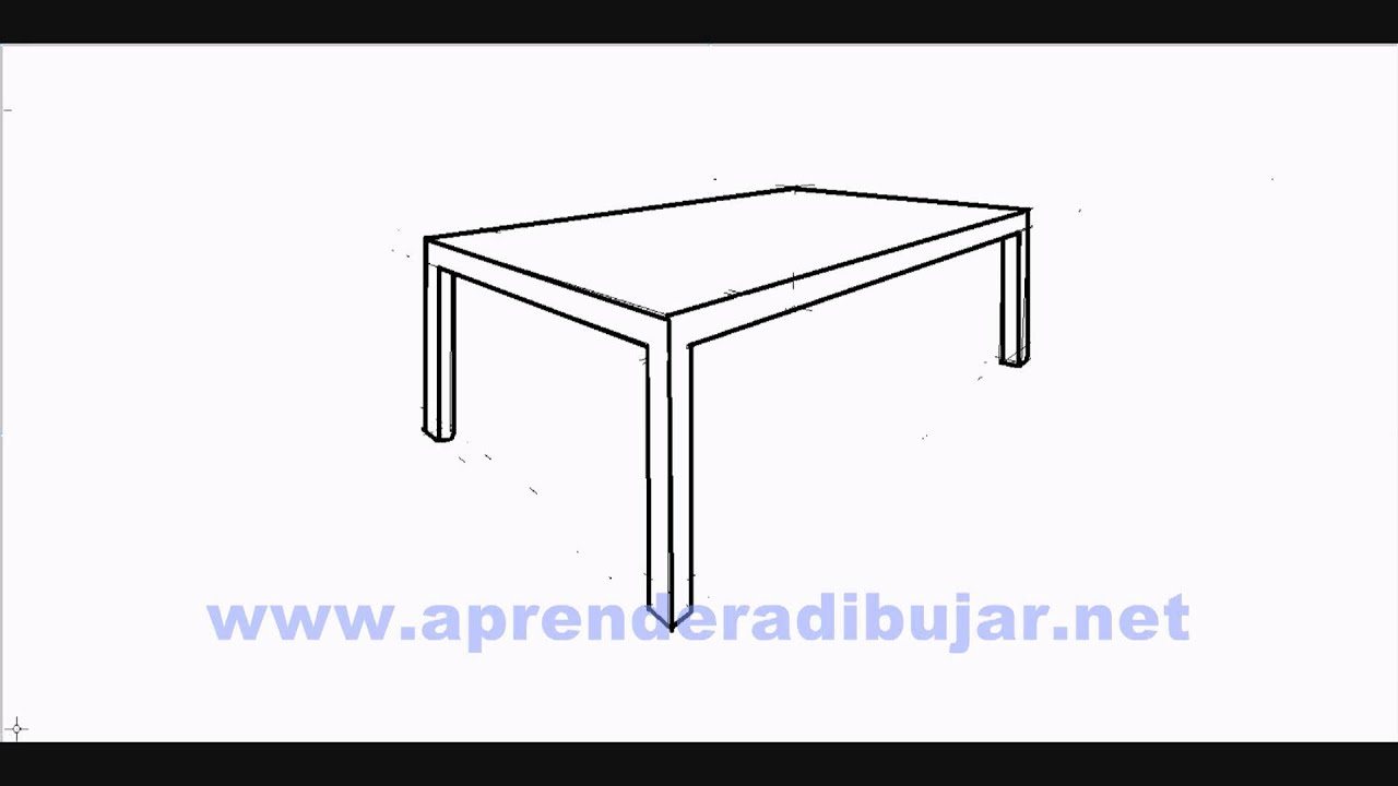 Dessin d\'une table en perspective - Comment Dessiner - YouTube