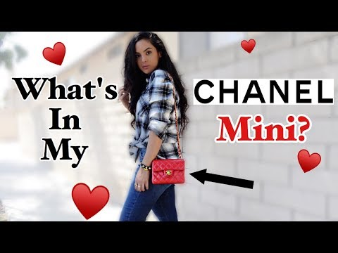 What's In My Chanel Vintage Square Mini? | elle be |