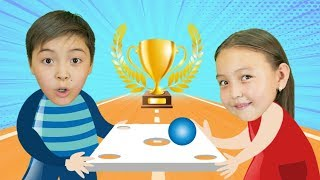 Carry colorful balls with spoon competition | Bonny Rhymes