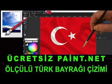 Paint.net Kullanımı - Türk Bayrağı çizimi