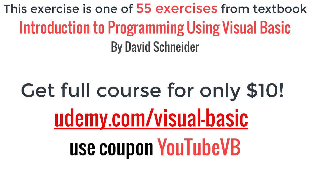 introduction to programming using visual basic baseball