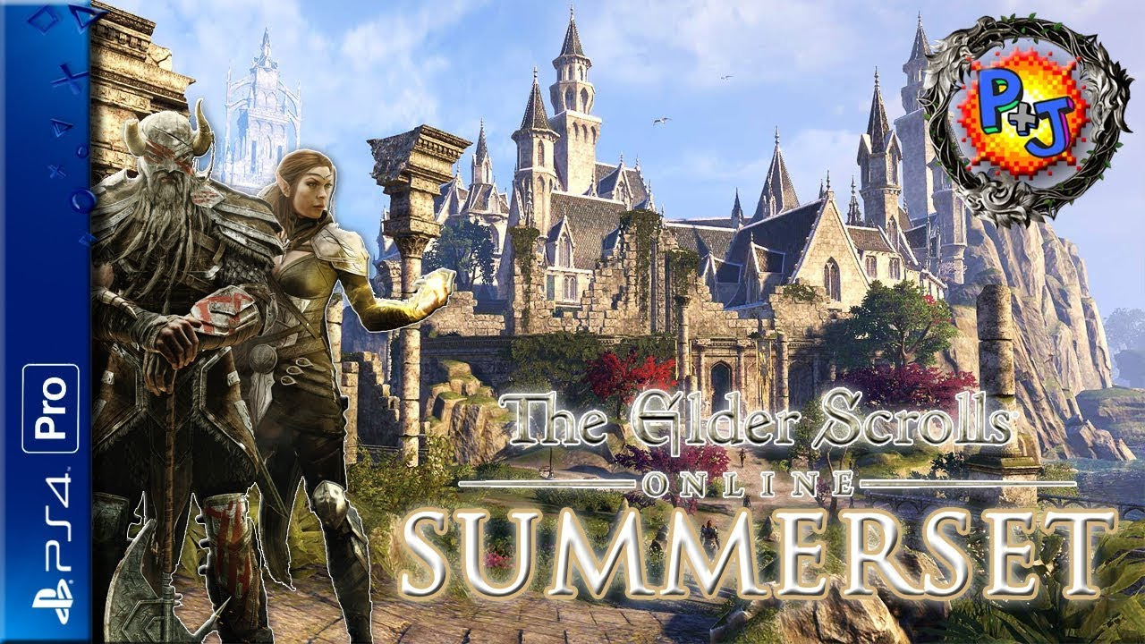 Let's Play Elder Scrolls Online: Summerset | PS4 Pro ESO Co-op Multiplayer  Gameplay Part 1 (P+J)