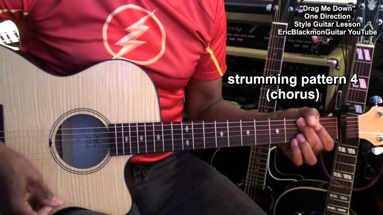 How To Play Drag Me Down One Direction Acoustic Guitar Lesson