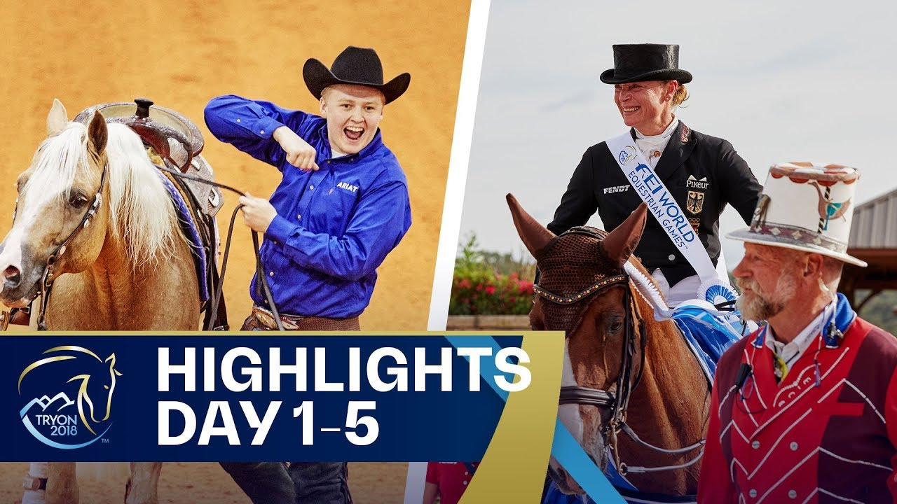 #Tryon2018 so far: Reining, Dressage and Eventing | FEI World Equestrian  Games 2018