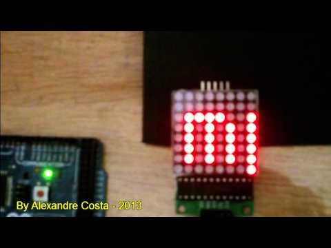Arduino 8x8 LED Dot Matrix with MAX7219 IC from banggood.com