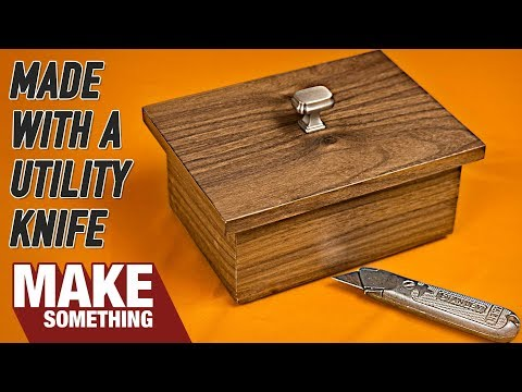 Walnut Box Made with Utility Knife | SUPER LIMITED TOOLS PROJECT