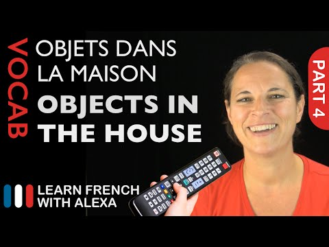 Objects In The House In French (basic French Vocabulary From Learn French With Alexa)