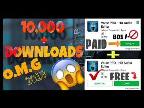 How to download ( Voice PRO HQ - Audio Editor ) in Android for FREE 100% Working 2018 Update version