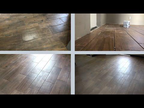 DIY FLOOR - Bedroom makeover - Wood Look Tile Installation - Redoing my Room - Part 1