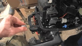 Ремонт топливного  конектора лодочного мотора Тохацу 5