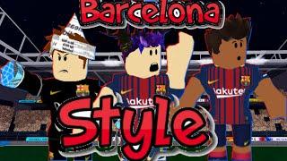 (Tps Street Soccer) Barcalona Style | Passes, Skill's & Shots | -Roblox-