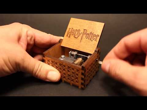 Harry Potter Engraved Wooden Music Box - Hedwig's Theme