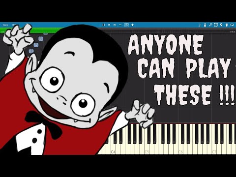 10 Spooky Songs for Halloween ANYONE Can Play On Piano  Tutorial