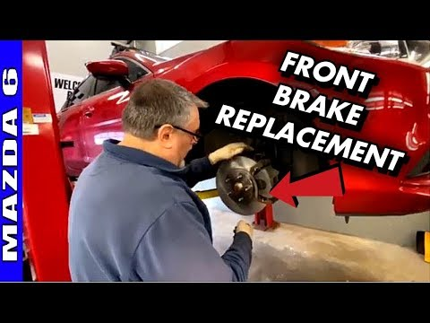 How To Replace Front Brakes 2014-2017 Mazda 6