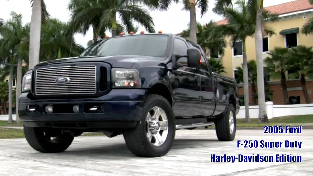 2005 ford f250 super duty turbo diesel harley davidson edition a2598