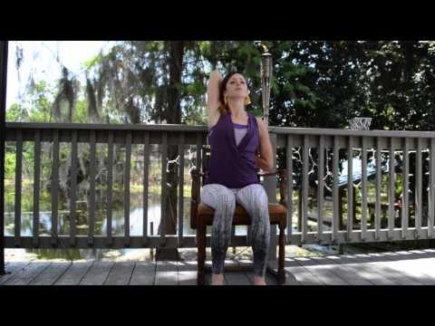 Five Minute Chair Yoga Sequence with Cara Edwards