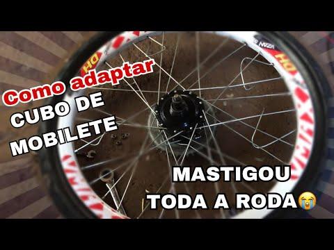 Como Adaptar Cubo De Mobilete Na Bike Motorizada Roda Traseira