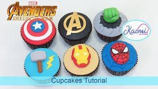 Cómo decorar cupcakes de AVENGERS || Kaomi Tutoriales