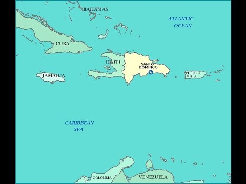 The United States Occupation Of The Dominican Republic - Map of us and dominican republic