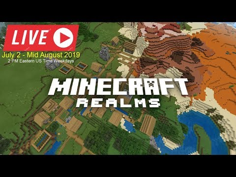 Will I Ever Be able to Find Diamonds? Join My Minecraft Bedrock Realms LIVE  Day 2!