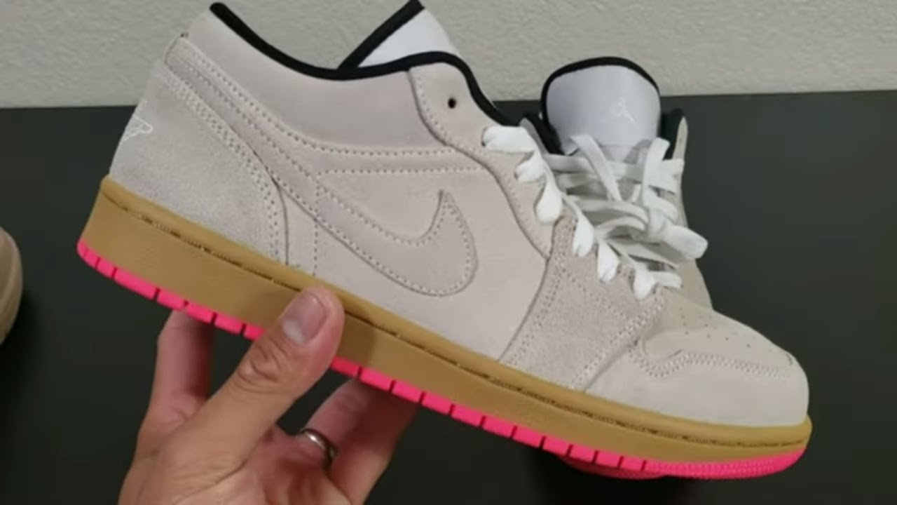 Jordan 1 Low - Gum Pink - YouTube