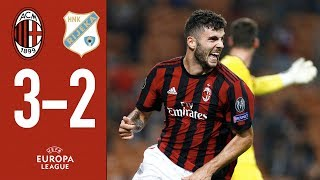 aC MILAN VS RIJEKA 3 :2 EUROPA LEAGUE 2017