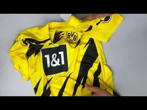 Borussia Dortmund Bvb 09 Jersey Home Replica 2020 2021 Unpacking Wearing Football Jersey Youtube